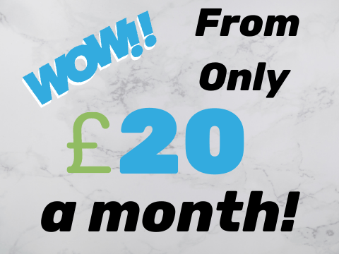 From Only £20 A Month